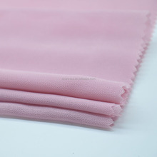 Chunnuo Polyester 75D High Twist Plain Dubai Chiffon Fabric