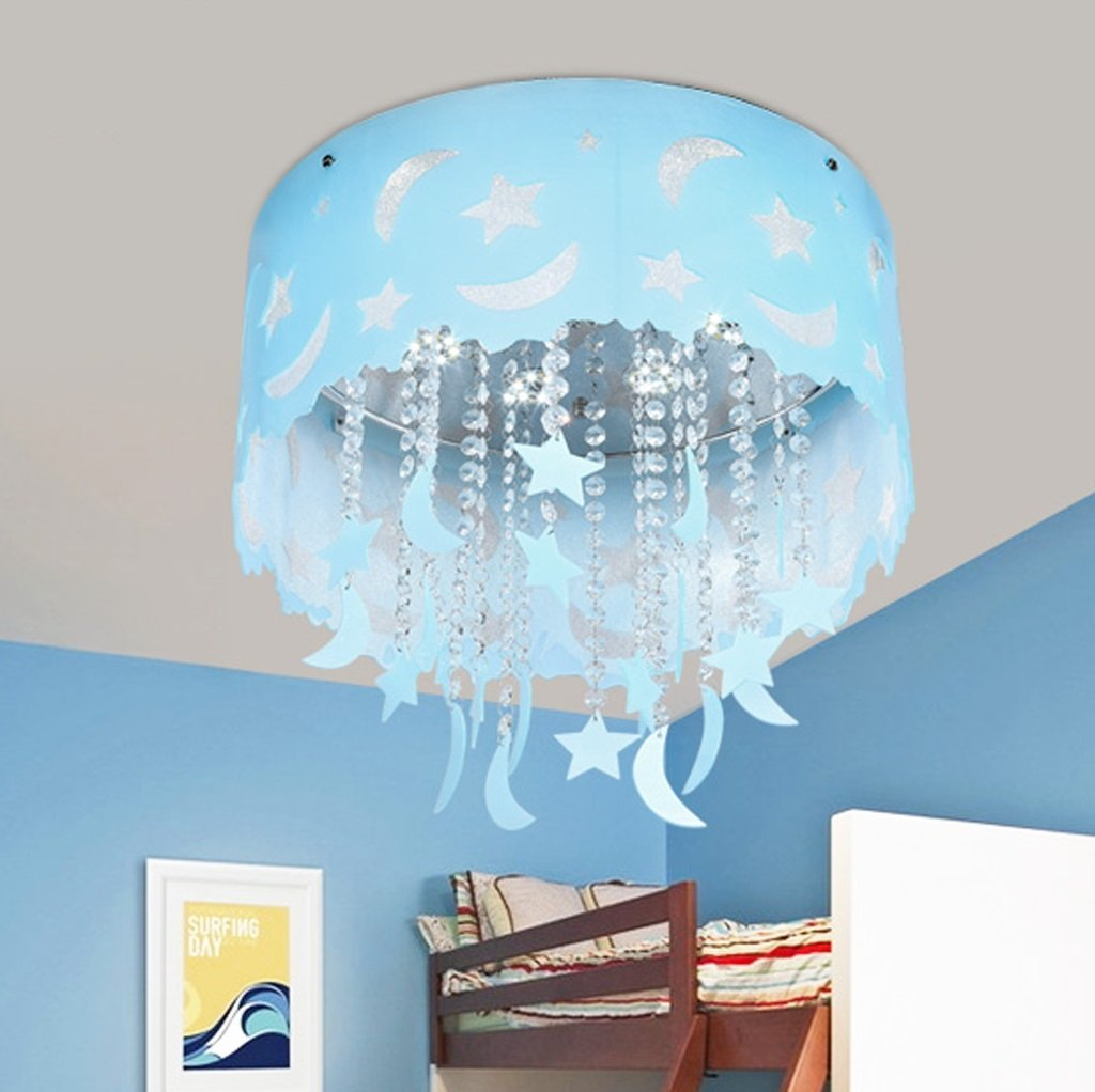 Children's room crystal ceiling lamp, living room bedroom lighting LED lighting (45 45 20cm)
