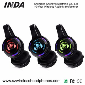 China Factory Supply LED Silent Disco/Silent DJ Wireless Headphones