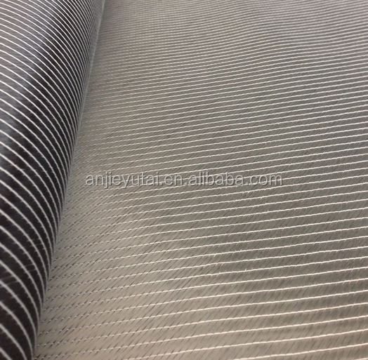 400gsm stitched double bias +/-45 degree carbon fiber fabric for boats