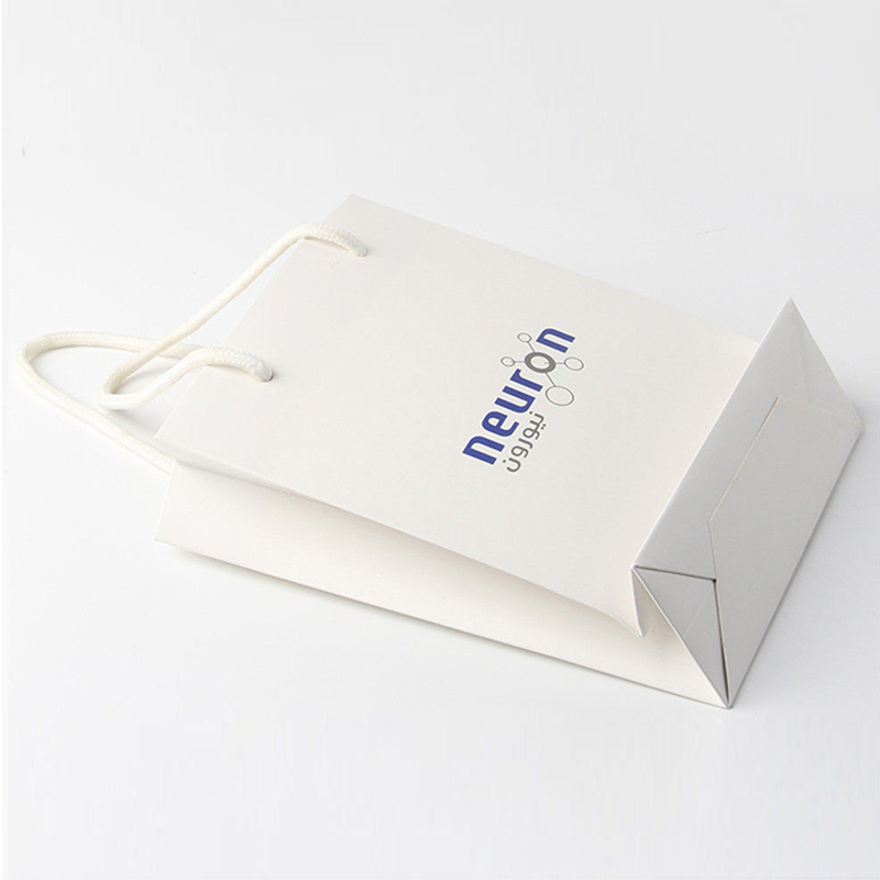 Luxury store custom Wholesale Reusable Shopping Bags With ribbon handle