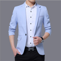 2019 slim fit style fashion trendy business casual suit jacket wedding Men's Suits