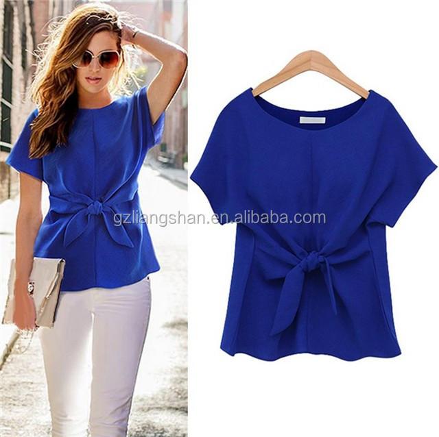 Korean Ladies Tops Latest Fashion Blouse Design 2015 Summer Short Sleeve T  Shirt Blue White Women. Korean Ladies Tops Latest Fashion Blouse Design 2015 Summer Short