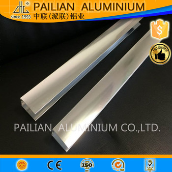 High quality polished profil aluminium,6463 clear aluminum profile extrusion ,polishing profile aluminium for shower door frame