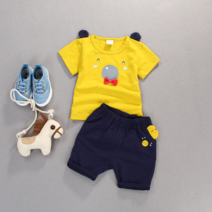Latest New Model Boy Cotton O-neck Boy Suit From China Supplier