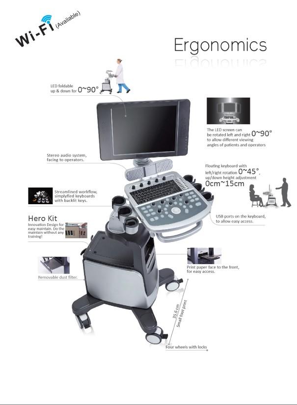 Qbit9 4d Color Doppler Ultrasound Machine For Pregnancycw Function