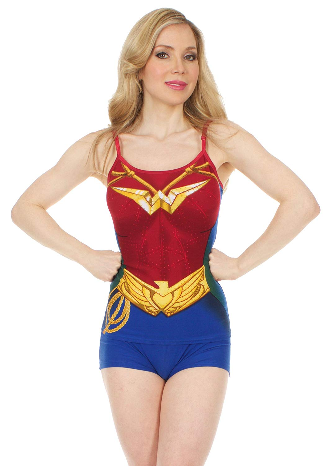 e40d384733 Get Quotations · DC Comics Wonder Woman Costume Cami and Short Set
