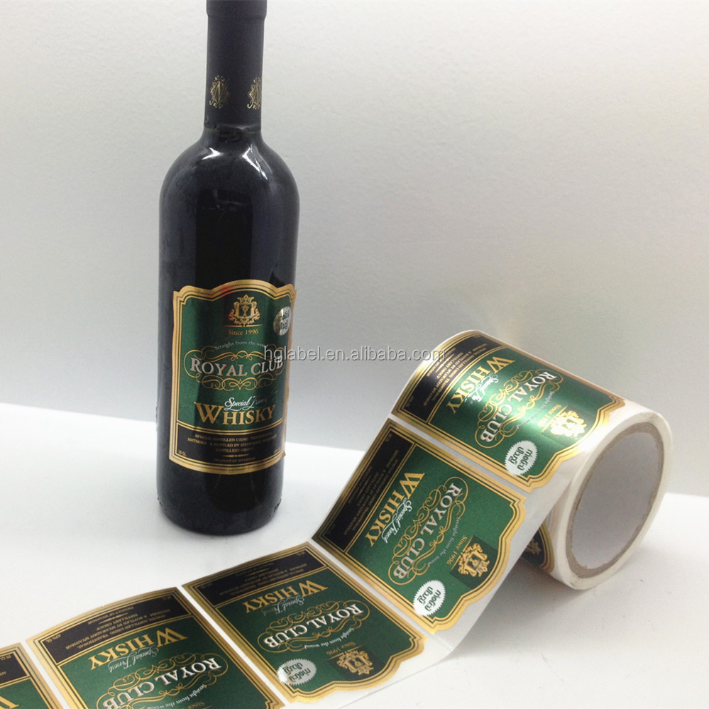 factory wholesale custom printing private label wine label sticker