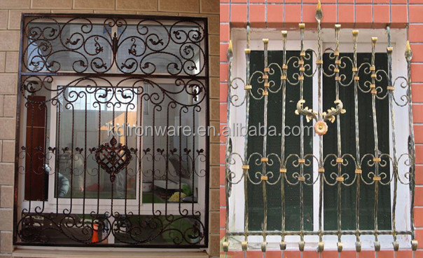 Modern French Wrought Iron Metal Window Grill Design View French