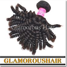 Machine Made Spiral Curly Hair Extensions Natural Color Human Hair Sew In Weave 100% Virgin Malaysian Hair