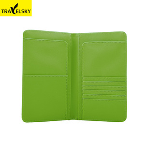 Travelsky Wholesale PU leather wallet Case Travel Document Organizer Passport Holder Credit Card Holder