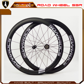 New S5R road racing wheel Soarrocs 50mm carbon wheel with R36 hub 16/20h clincher wheelset chinese carbon 700C wheels