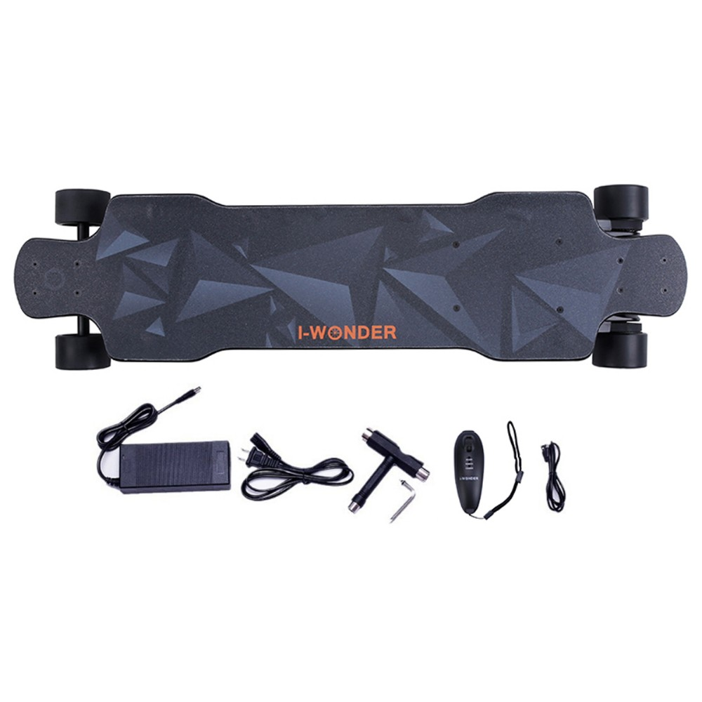 SK-F I-Wonder skate elétrico deck flexível single-dual motores switchable cinto impulsionado placa longboard impulsionado