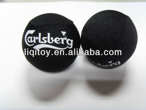 Black color with white logo TPR water bouncer ball