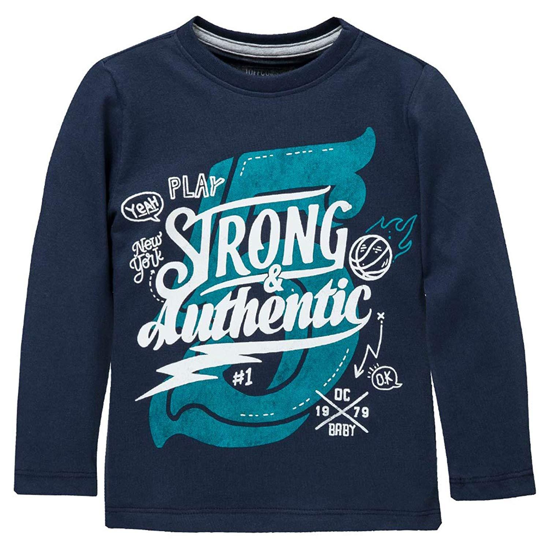 88fa48a10 OFFCORSS Boys Long Sleeve Tshirt Camiseta Para Niños Manga Larga Blue 18  Months