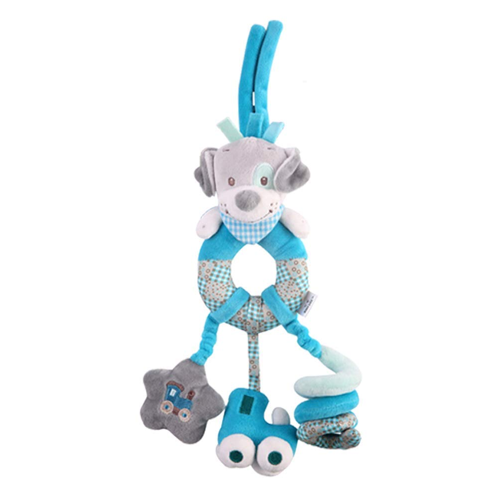 StillCool Baby Bed Hanging Toys, Colorful Infant Stroller Toys Washable Kids Car Seat Toy (Blue - Puppy)