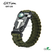 outdoor survival kit paracord bracelet cheap survival bracelet with compass