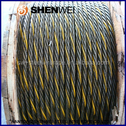 7*19+IWS/STEEL CORE ungalvanized steel cables 3-38mm