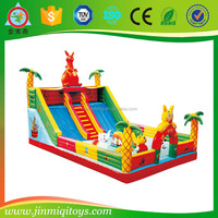 high quality jumping animal toy, kids bounce bull, inflatable toy animal JMQ-G168B