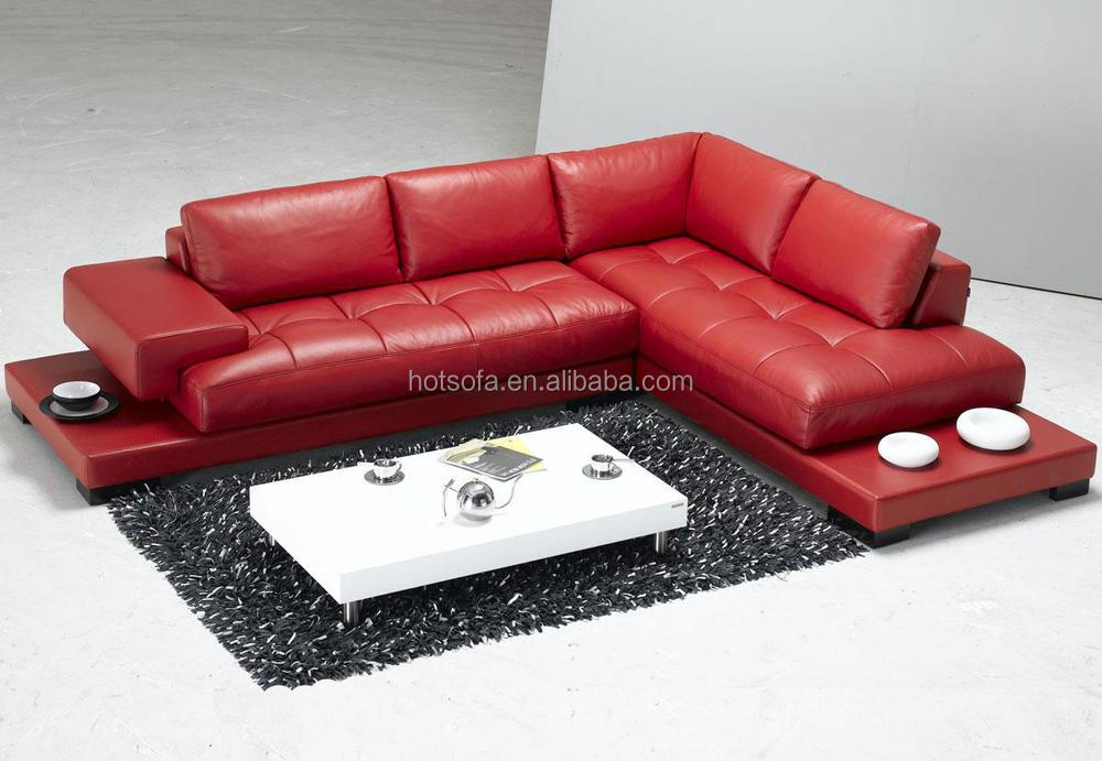 Low Price High Quality Red L Shaped Sectional Corner Sofa for Sale ...
