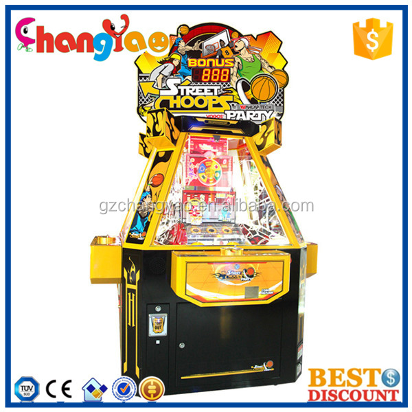 Street Hoopes Party Lottery Ticket Redemption Game Machine For Sale