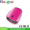 Guoguo 2016 hot sales power bank dual usb best brand portable 7800mAh mobile power bank
