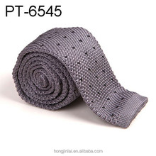 Skinny Knitted ties for men Custom 100% Polyester Woven mens Slim necktie for Party Business Brand Handmade Cheap Neck Tiept6545