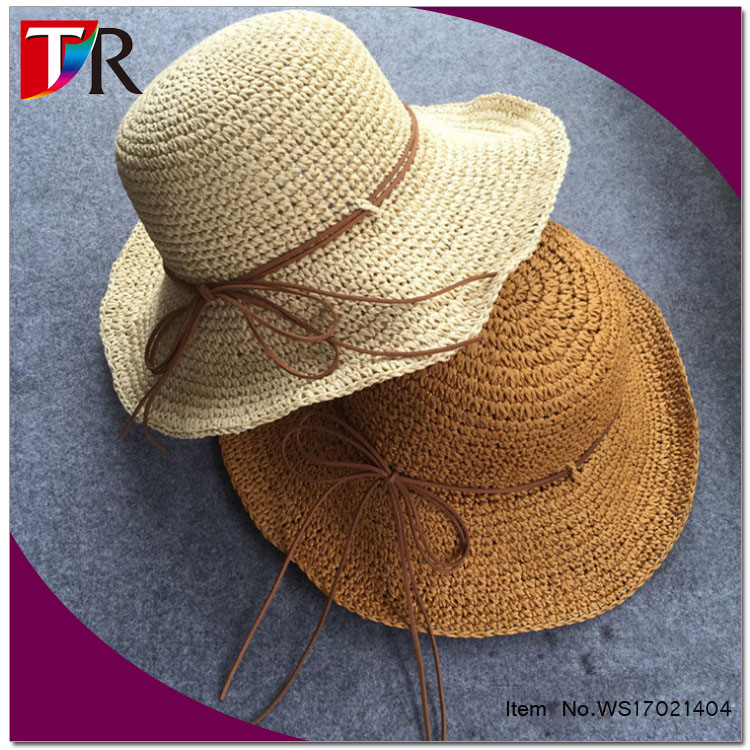 Plain Mini Paper Straw Fedora Hat Folding Straw Hat For Girls - Buy ... 8e43e22d172