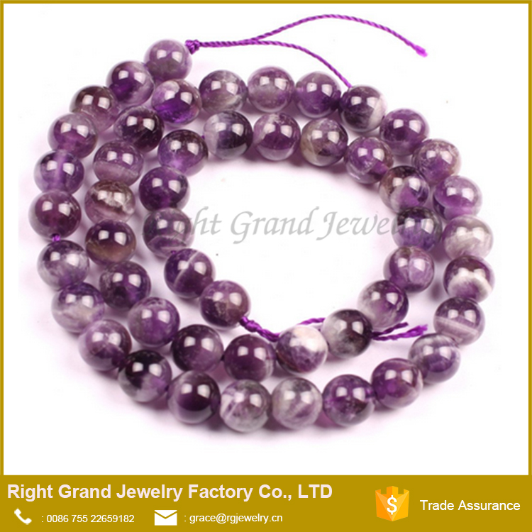 8mm 10MM Natural Amethyst Gemstone Loose beads strand Jewelry Making