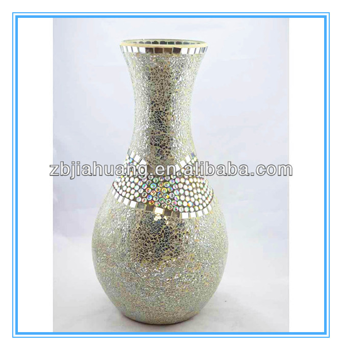 Wholesale Mosaic Ornaments Cracked Glass Vase Buy Cracked Glass