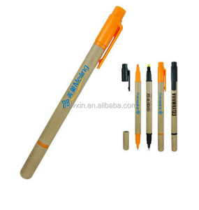 Double-headed double-use highlighter pen, ball-point pen,2-in-1 pen