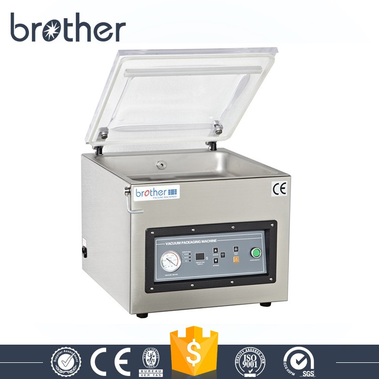 VM400TE Hot Sale Table Single Chamber Vacuum Packing Machine For Fish Rice Fruit Vegetable Food