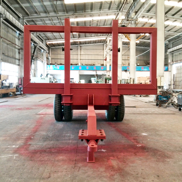 China single axle flatbed semi trailer transport sugarcane trailer