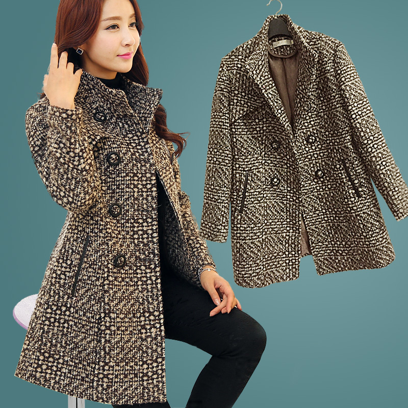 Woolen Coat Female Medium long Thicken Middle aged Women font b Winter b font Big yards