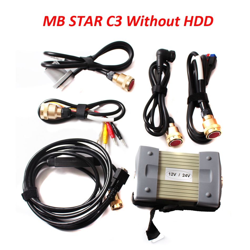 Best Quality with Red interface New MB Star C3 Diagnosis Tool Star 2000 Multiplexer with 5 Cable star c3 For Cars & Trucks