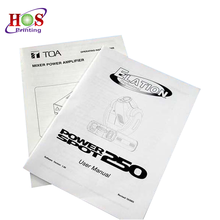Wholesale Customized All Size Instruction Manual Book Printing Service
