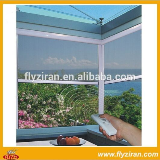 Electric roller insect screen door and window / Electric remote control window