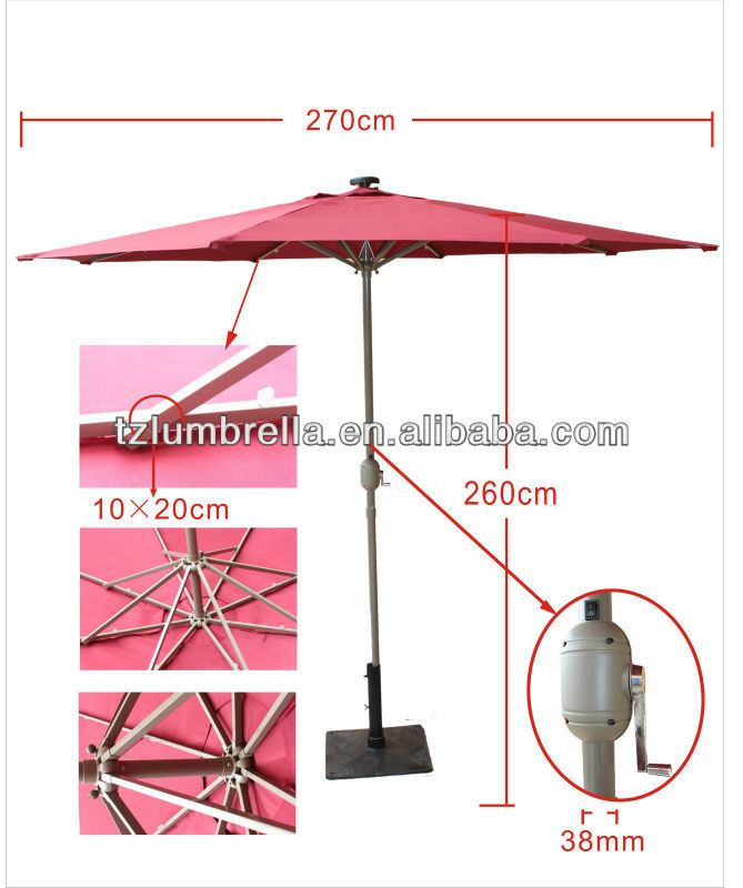 Solar Umbrellas Lights
