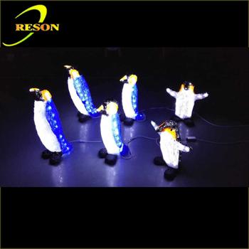 Gartendekoration 3d Lichtskulptur Animierte Weihnachten Pinguin ...