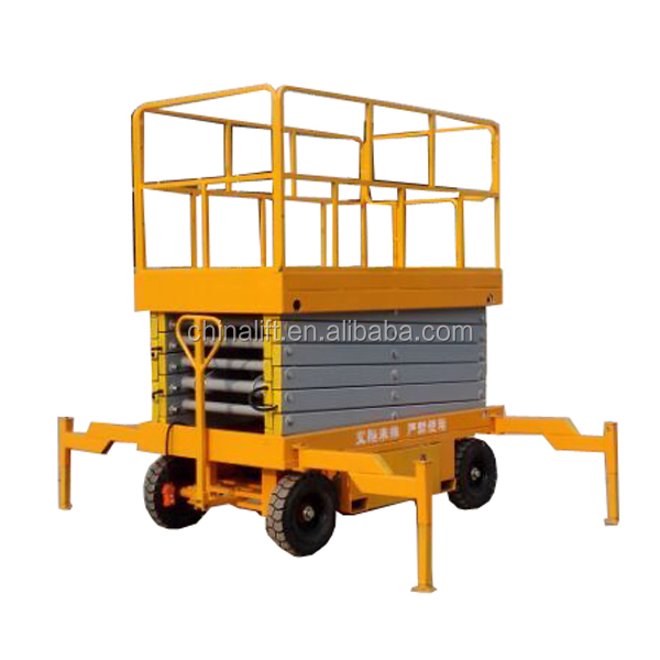 Full electric self-propelled hydraulic man lift/scissor lift platform price