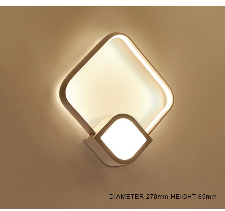 Blanc Pour Décoration Moderne Produit Maison Lampe Chaud Chambre 2018 En Aluminium Murale Éclairage Buy De Applique Mur Carré Salon Mural Menée F1JcKTl