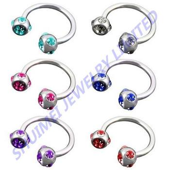 Steel Horseshoe Rings Nose Nail Hoop Body Piercing Jewelry Earrings Navel Ring Buy Horseshoe Piercing Steel Piercing Earrings Jewelry Product On