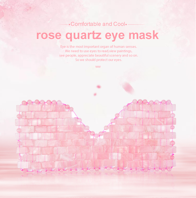 2019 new trending cooling handmade Jade eye mask, 100% rose quartz face/neck/ eye mask