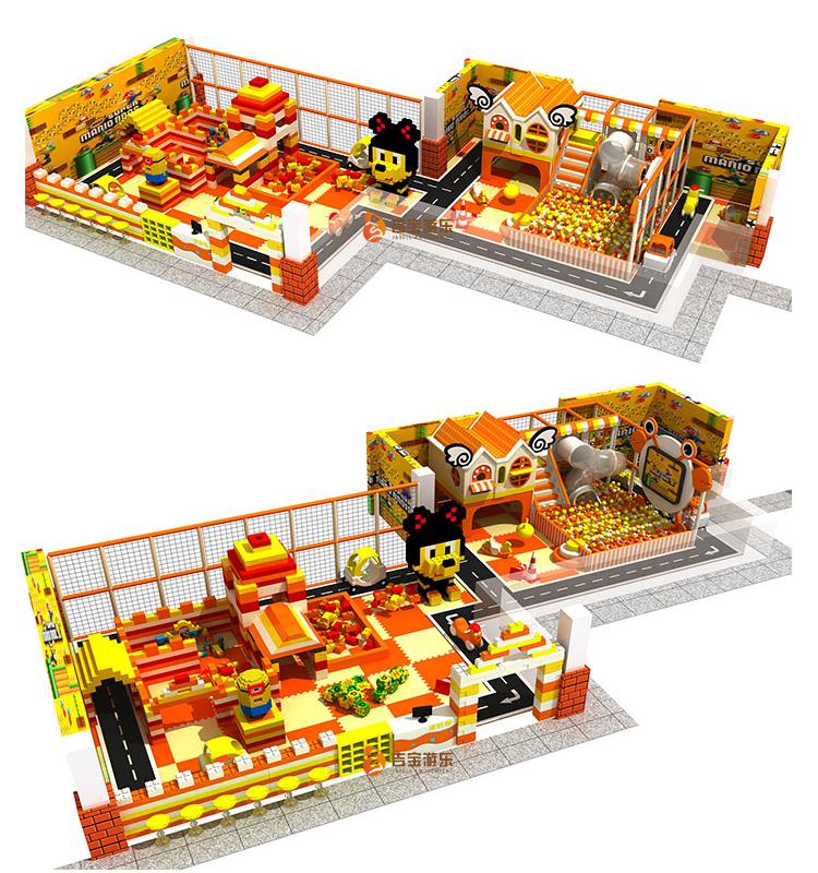 Kinderen pretpark schuim blok kinderen spelen gebied indoor speeltuin game zone apparatuur voor baby park