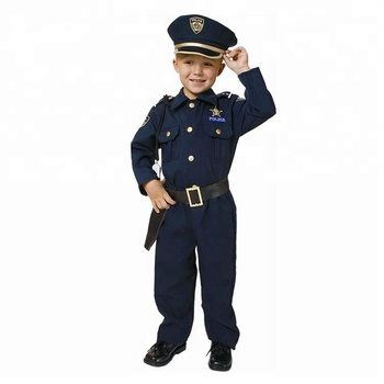 Custom boys police uniform cosplay costume halloween career kids costume