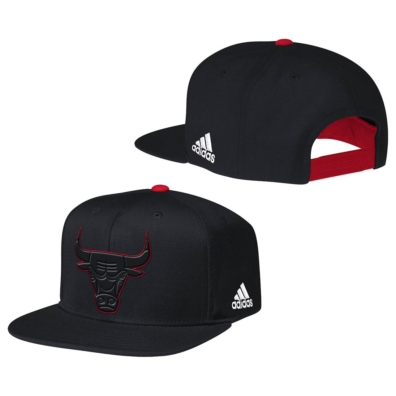 486c62870a3 Get Quotations · Chicago Bulls Team Nation Fashion Color Adjustable Plastic  Snapback Hat   Cap