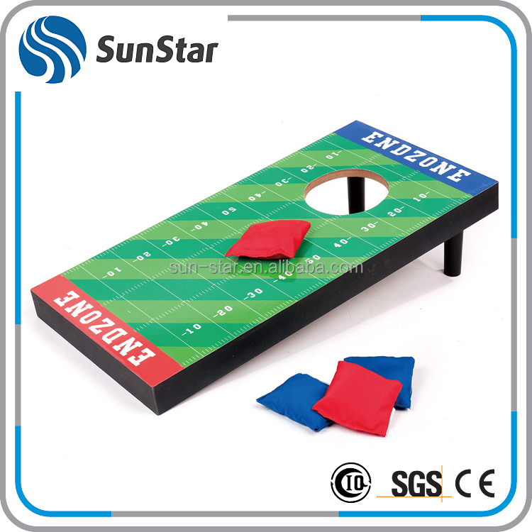 NBSS welcome ODM wholesale sports wooden game bean bag toss