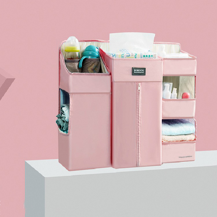 Large Storage Baby Nursery Organizer & Diaper Caddy Hanging Crib Organizer