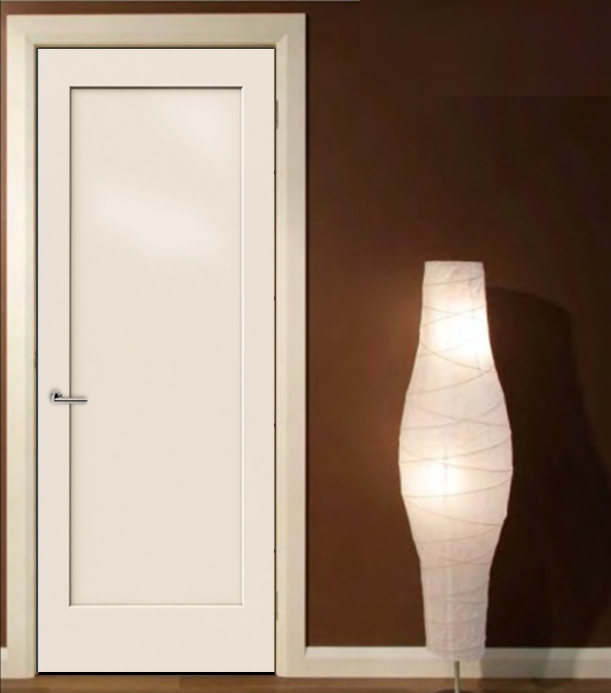 Smooth 1 panel solid core white primed mdf interior door for Mdf solid core interior doors