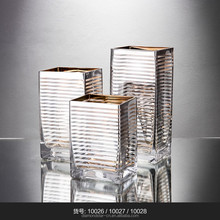 square vase glass mercury diamond star for home decoration